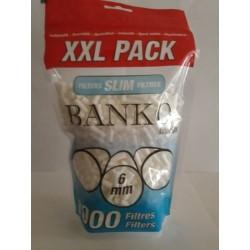1 Sachets 1000 Filtres à cigarettes slim BANKO 6mm